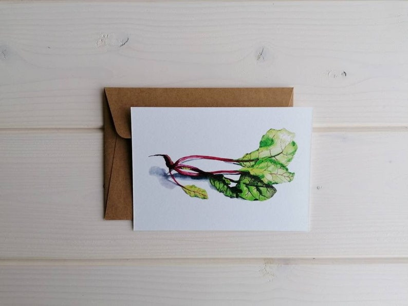 Beetroot postcard blank card with or without envelope image 0
