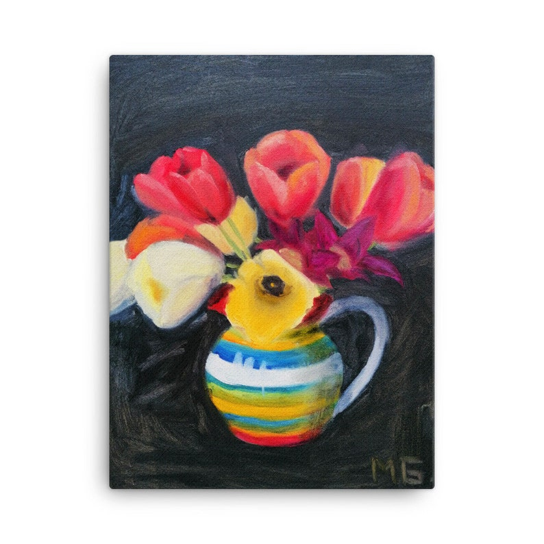 Red and yellow tulip canvas print 18x24 canvas print large image 0