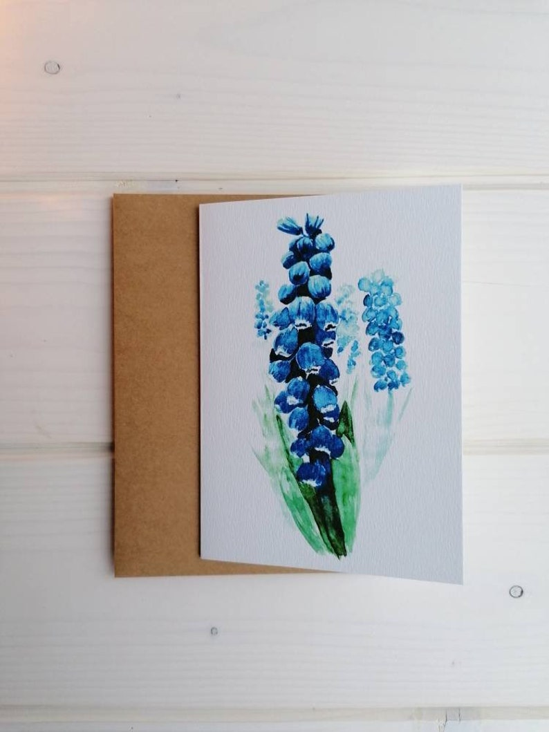 Spring greeting card with or without envelope blank folded A6 with kraft envelope