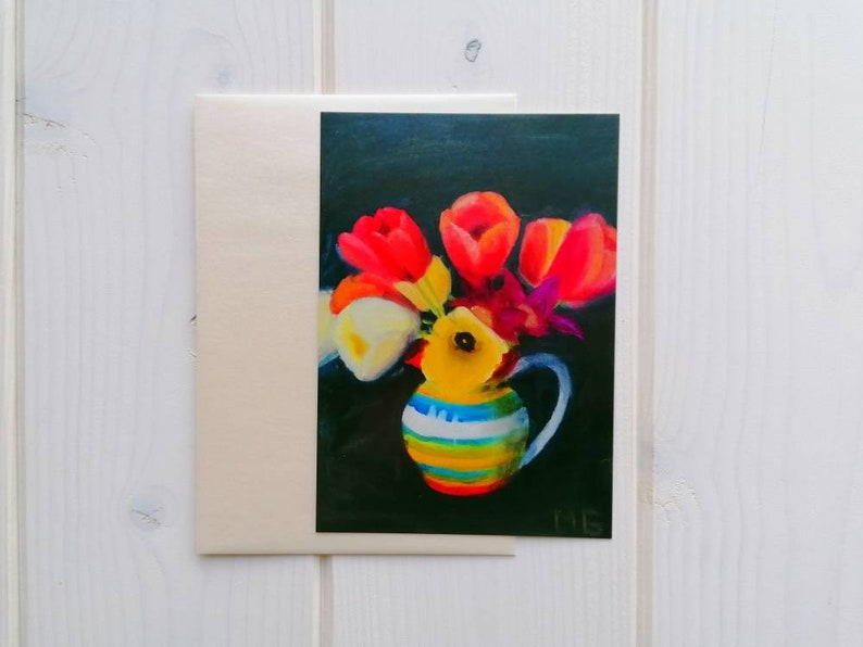 Tulip art postcard blank card with or without envelope image 0