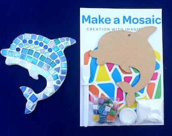 Make a Mosaic Craft Kit -  Under the Sea - Dophin