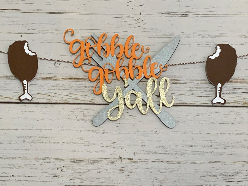 Free Shipping Gobble Gobble Banner Happy Friendsgiving Banner Thanksgiving Banner Thanksgiving Decorations Happy Thanksgiving Banner