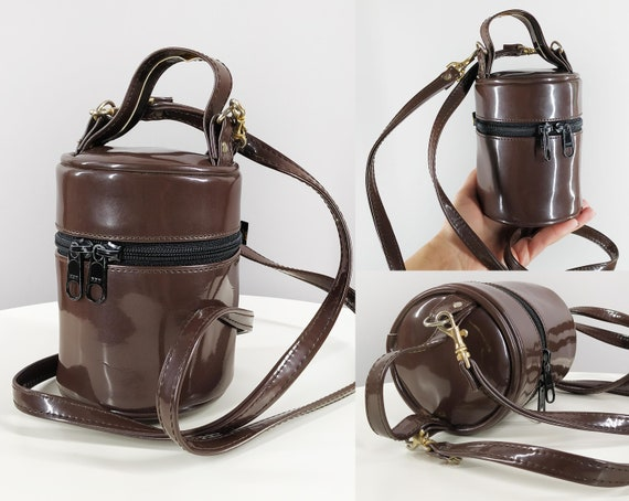 Small vintage bucket bag in brown