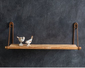 Wall Mounted Wooden Wall Shelf, Table Decor, Home Furnishings, Home Accents, Farmhouse, Country, Candlelabra, Candles, Candleholder, White