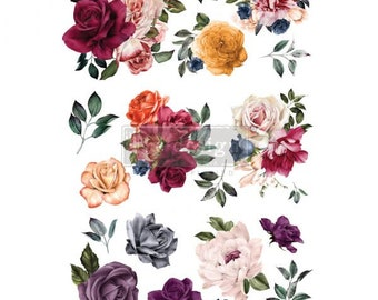 Decor Transfer Beautiful Things, ReDesign with Prima, Rub On Furniture Transfer, Embellishments, DIY, Burnish, Free Shipping, Florals, Roses