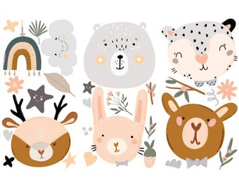 Decor Transfers Boho Critter, ReDesign with Prima, Rub On Furniture, Children, Nursery, Bear, Rabbit, Deer, DIY, Animals, Free Shipping