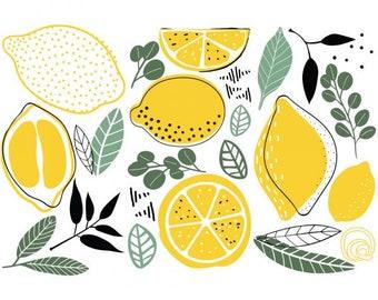 Decor Transfers Lemon, ReDesign with Prima, Rub On Furniture Transfer, Embellishments, DIY, Kitchen, Food, Free Shipping, Fruit, Yellow