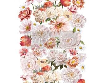 Decor Transfer Pretty in Peach, ReDesign with Prima, Rub On Furniture Transfer, Embellishments, DIY, Burnish, Free Shipping, Florals, Rose