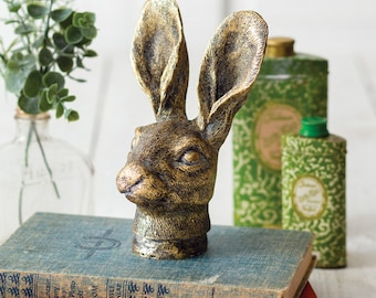 Briar Hare Figurine, Rabbit, Animal, Children, Table Decor, Home Accents, Shelf Decor, Home Furnishings, Statue, Indoor, Outdoor, Country