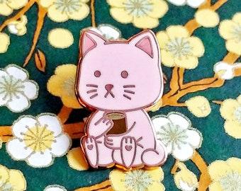 PinKittea ( Pink Kitty Tea) Hard Enamel Pin