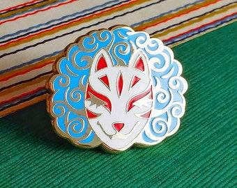 Unbothered Kitsune Mask Hard Enamel Pin