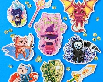 Rpg Cosplay Kitty Sticker Sheet