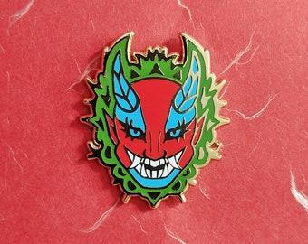 Fierce Oni Mask Hard Enamel Pin