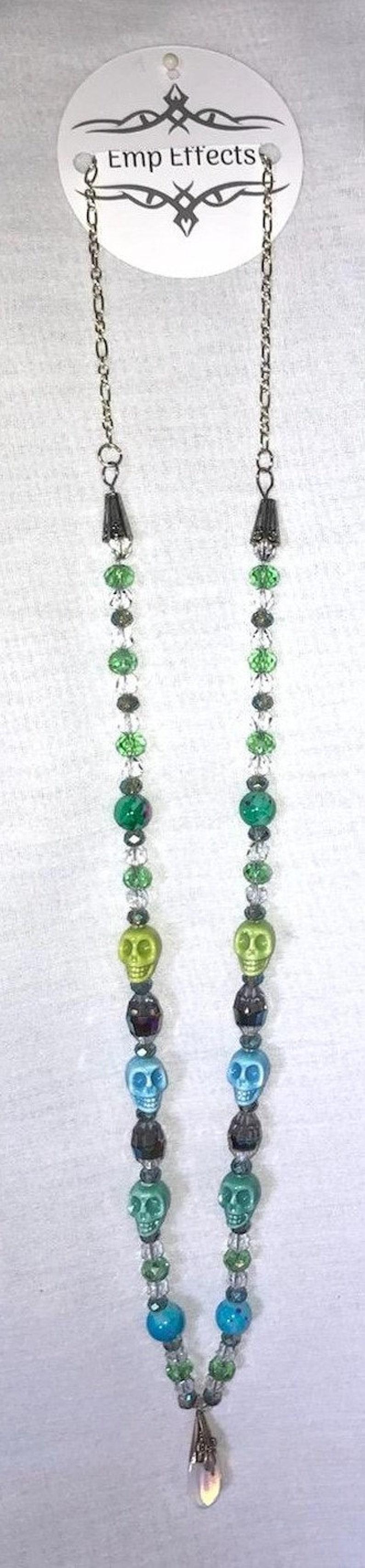 Porcelain Skull Necklace and Earring Set