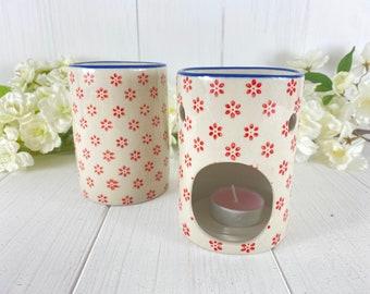 Fragrance Oil Lamp Aroma Lamp ScentsTövchen Red - Beige