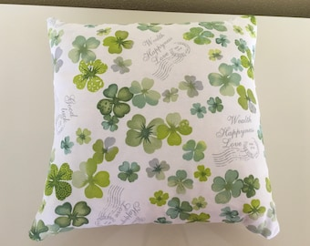 Swiss stone pine cushion with inner cushion and zipper lucky clover