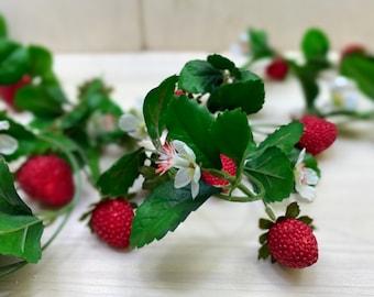 Garland Strawberries 177 cm Decoration