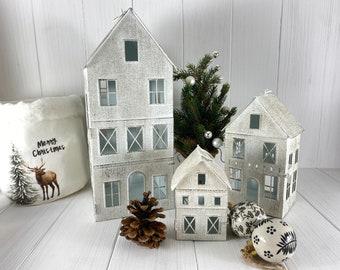 Lantern House Set 3 pieces white