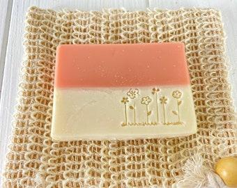 Almond oil soap sea buckthorn scent 100g shower soap palm oil-free vegan