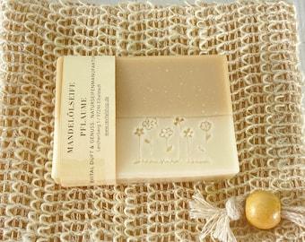 Shower Soap Vegan Palm Oil Free Almond Oil Plum 100g Shower Butter Shaving Soap