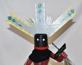 17 Inch Native American Handmade Apache Crown Dancer Kachina