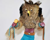 12 Inch Native American Handmade Owl Kachina