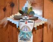 Traditional Hopi Wall Hanging Butterfly Katsina Made by Chester Poleyestewa