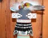 Traditional Hopi Wall Hanging Hilili Katsina Made by Chester Poleyestewa