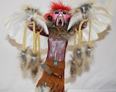 12 Inch Red Tail Hawk Handmade Navajo Kachina