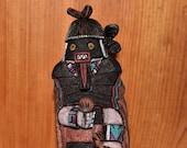 Traditional Hopi Warrior Maiden (Ogre Woman) Katsina Carving Made by Brian Smith