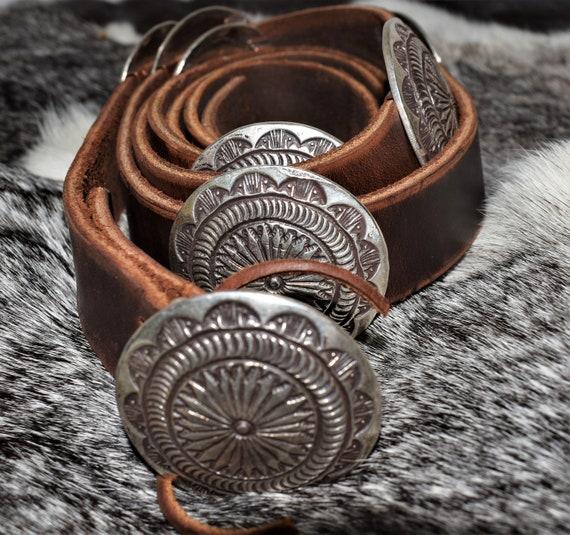 Genuine Vintage Navajo Concho Belt