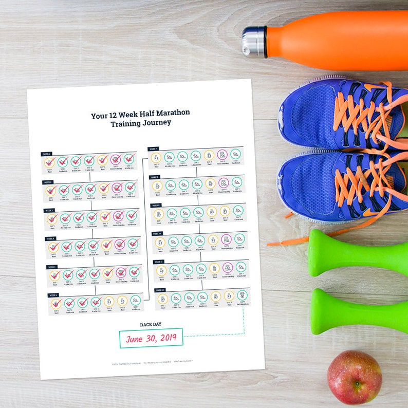 Printable Half Marathon Training Schedule Program For Beginner image 0