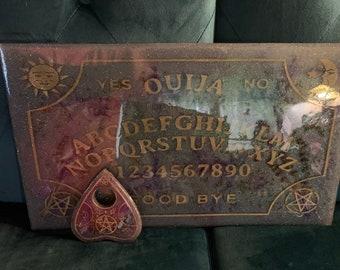 "19x11"" EXTRA LARGE Ouija Board/ Spirit Board/ Talking Board/ Handmade/ Crafted Magickal Boards/ Lavender Dreams/ Rose Thorn/ Black Mist"