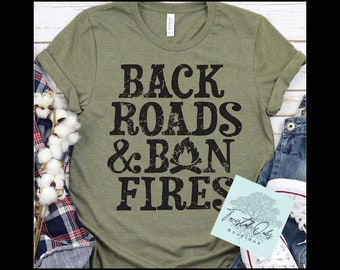 Bon Fires and Fall T Shirt/ autumn unisex clothing for adults