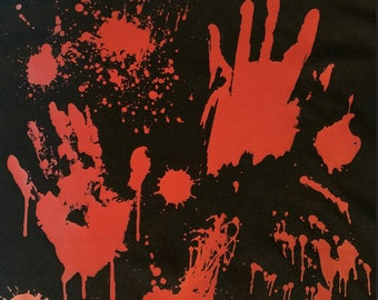 Halloween Bloody Hands Unisex Adult T Shirt/ Horror Movies/ Gifts for the Holiday