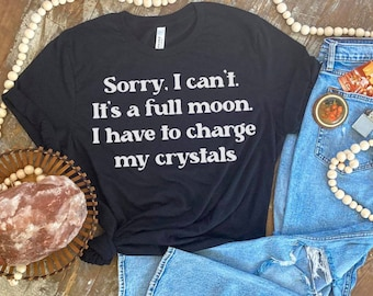 The moon is full... adult unisex, t shirt, Witch and moon lovers T shirt