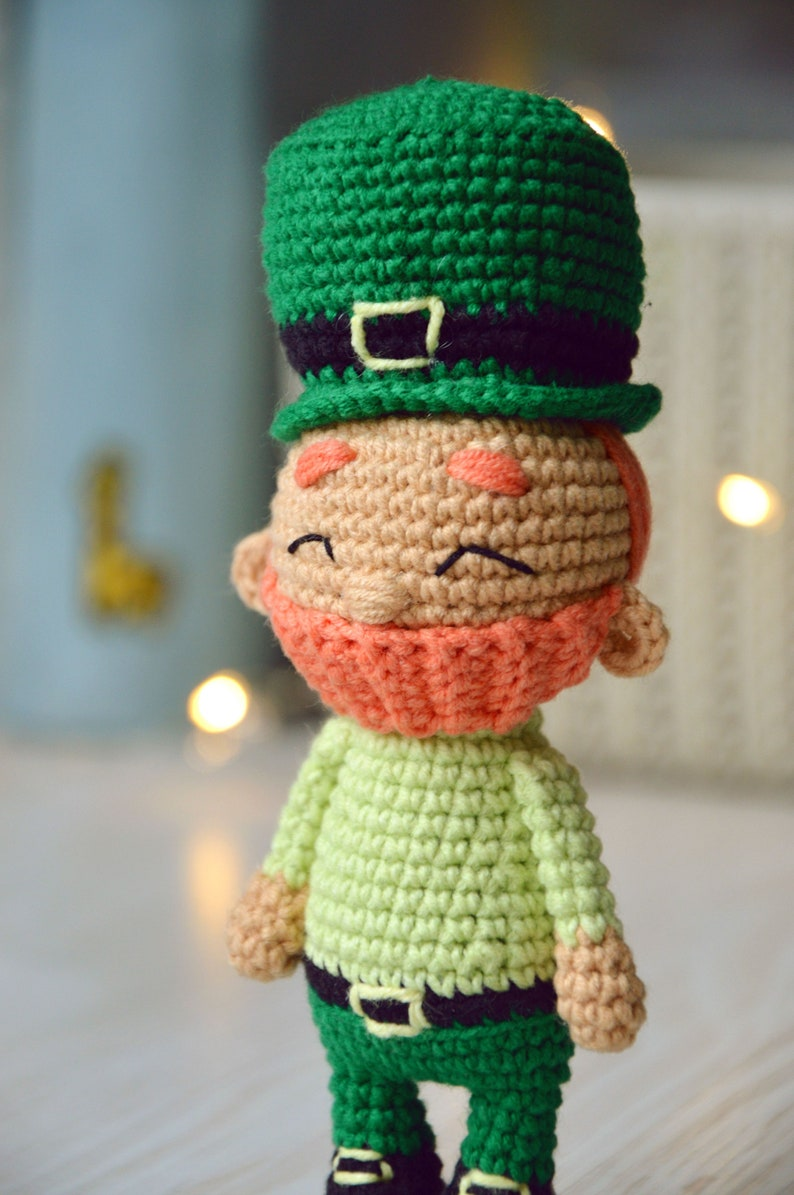 Leprechaun Crochet Pattern to St.Patrick/'s day; Amigurumi Leprechaun doll