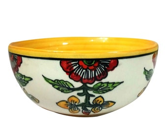 600 ml Best for Gifting 400 ml India Meets India Handmade Ceramic Serving Bowl with Lid//Mixing Bowls//Dinner Bowl//Snack Bowl Made by Awarded//Certified Indian Artisan 1000 ml