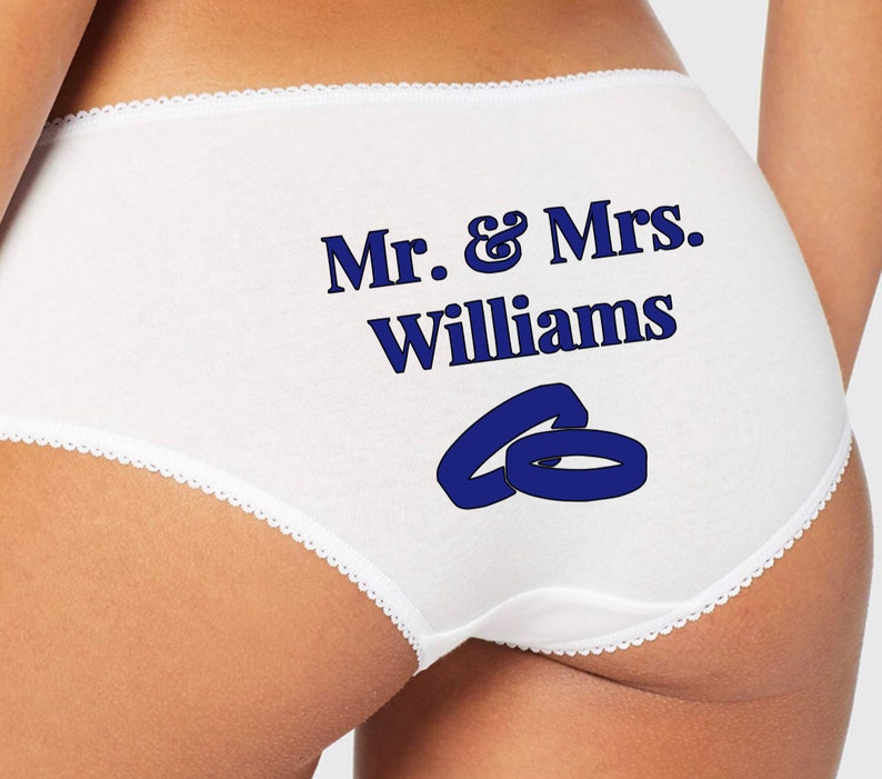 Bride Gift Anniversary Gift Wedding Gift. Hen Gift Personalised Property of Mr Womens Underwear Knickers Panties Birthday Lingerie Wife