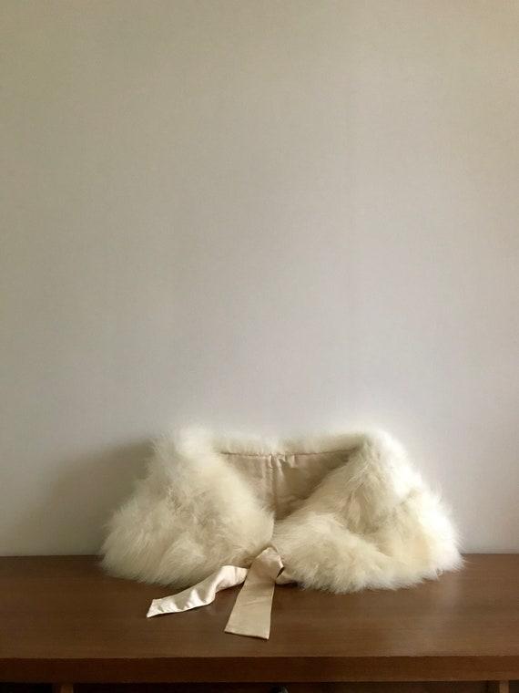 White Fox Fur Stole | 50s60s Arctic Fox Fur Stole