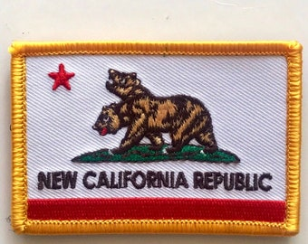 Fallout NCR Cosplay Ranger Red v2 10cm Embroidered Sew or Iron on Badge
