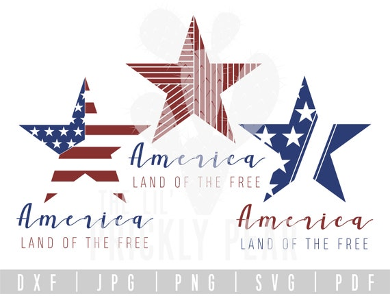 Americaland Of The Free American Flag Star Fourth Of Etsy