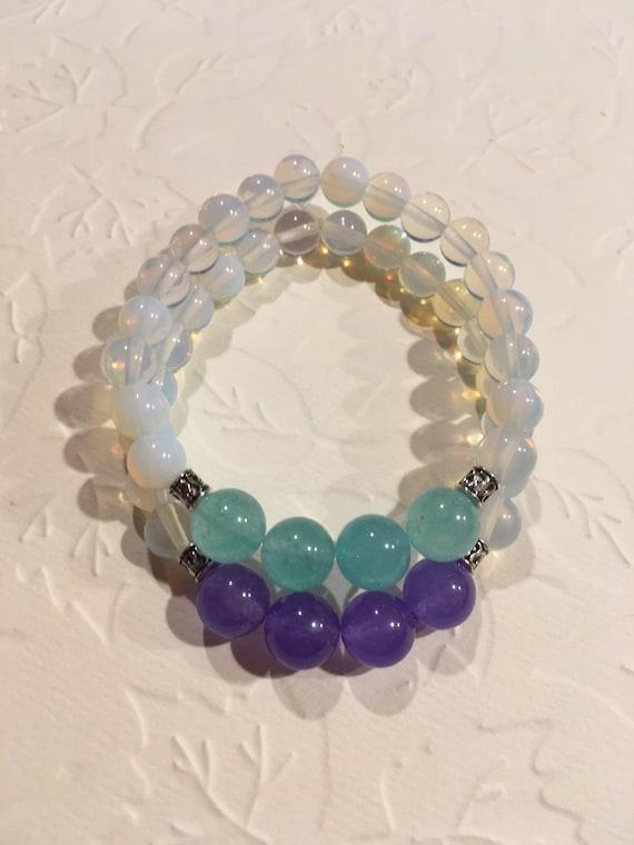 Opalite bracelet,moonstone bangle,moonstone bracelet,solid gemstone bracelet,crystals rocks stones gems,minerals,boho bangle,boho bracelet,