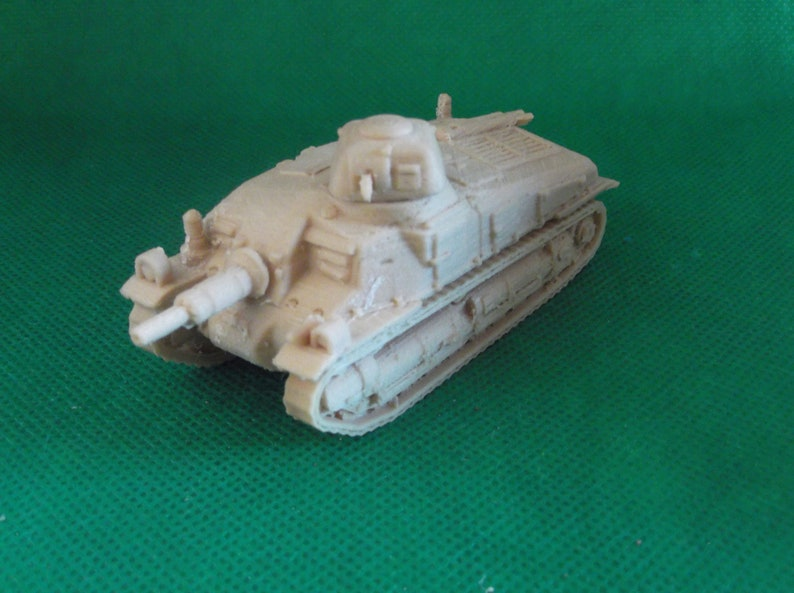 1//72 scale World War 2 3D printed medium French Somua S35 cavalry tank