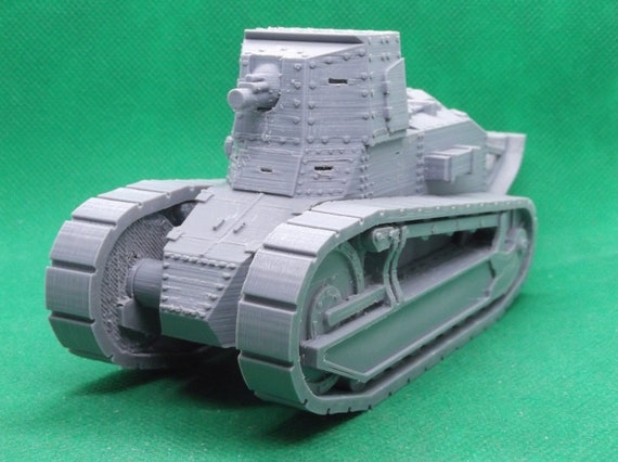 World War 2 3D printed 1//72 scale French Renault FT 75 BS close support tank
