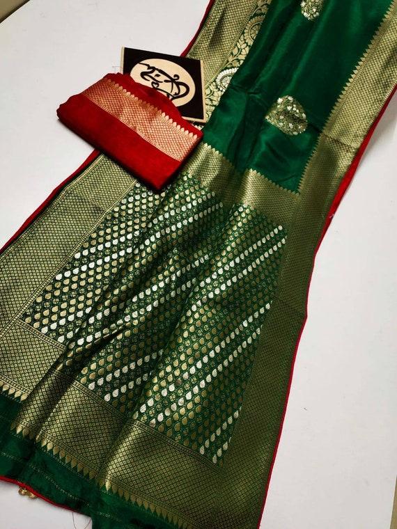 Exclusive Designer Pure Munga Silk Saree with Zari weaving border Pure Silk Saris on Sale