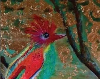 Party card postcard postcard art card bird card