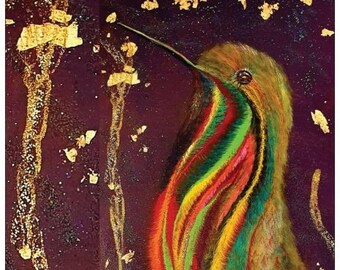 postcards art cards celebrations birds party colorful