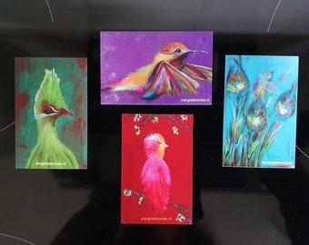 Gift cards artcard postcard cards set - 4 give aways
