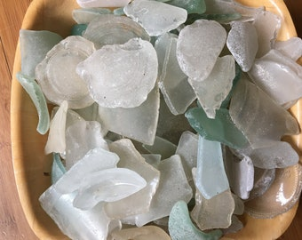 Sea Washed Glass, Beach Finds, Sea Glass, Large, Craft Supplies, Jewelry Making, Mosaic, Pastel Coloured, Glass Shards, Art and Craft